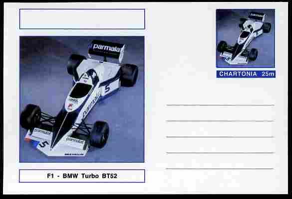 Chartonia (Fantasy) Formula 1 - BMW Turbo postal stationery card unused and fine