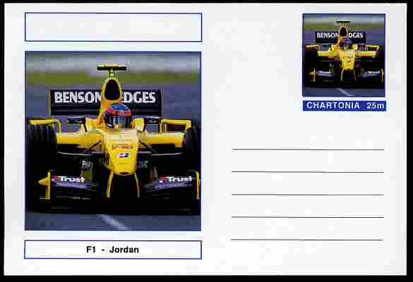Chartonia (Fantasy) Formula 1 - Jordan postal stationery card unused and fine