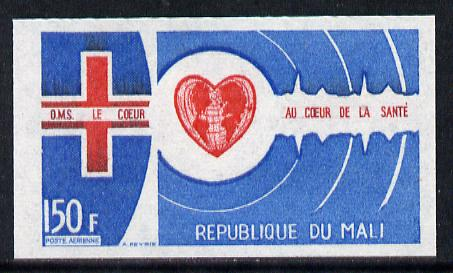 Mali 1972 World Heart Month 150f imperf from limited printing, as SG 316*
