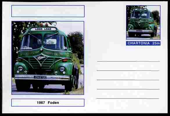 Chartonia (Fantasy) Trucks - Foden (1967) postal stationery card unused and fine