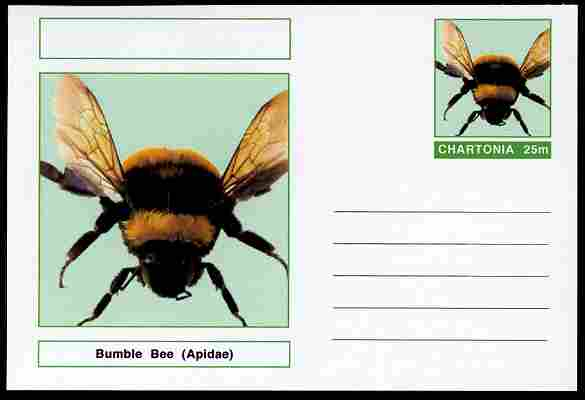 Chartonia (Fantasy) Insects - Bumble Bee (Apidae) postal stationery card unused and fine