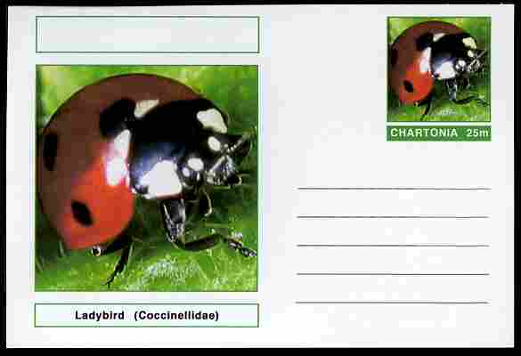Chartonia (Fantasy) Insects - Ladybird (Coccinellidae) postal stationery card unused and fine