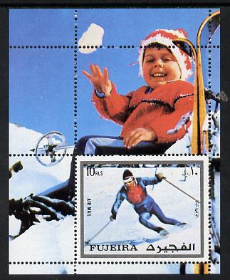 Fujeira 1972 Winter Olympics (Skiing) m/sheet unmounted mint (Mi BL 136A)