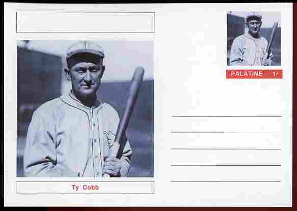 Palatine (Fantasy) Personalities - Ty Cobb (baseball) postal stationery card unused and fine