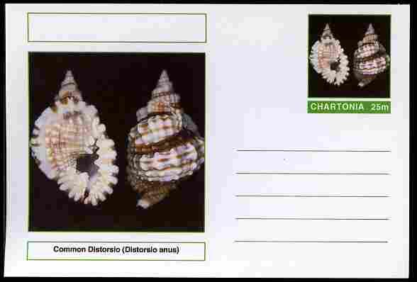 Chartonia (Fantasy) Shells - Common Distorsio (Distorsio anus) postal stationery card unused and fine