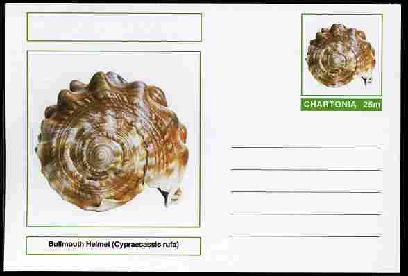 Chartonia (Fantasy) Shells - Bullmouth Helmet (Cypraecassis rufa) postal stationery card unused and fine