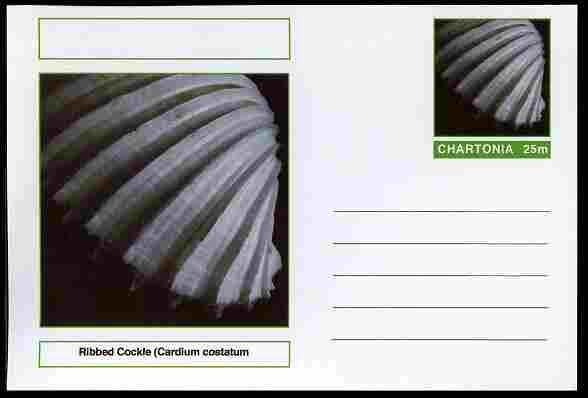 Chartonia (Fantasy) Shells - Ribbed Cockle (Cardium costatum) postal stationery card unused and fine