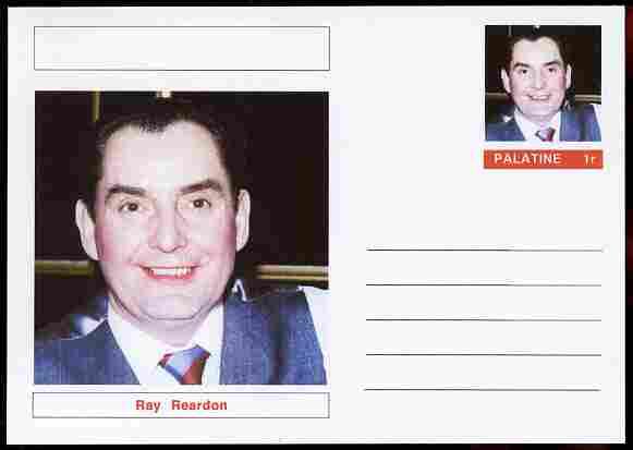 Palatine (Fantasy) Personalities - Ray Reardon (snooker) postal stationery card unused and fine