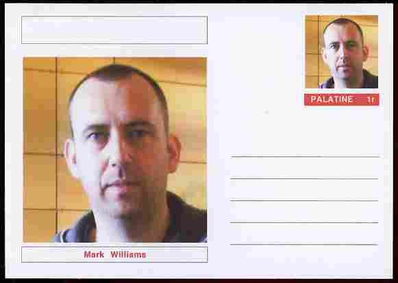 Palatine (Fantasy) Personalities - Mark Williams (snooker) postal stationery card unused and fine