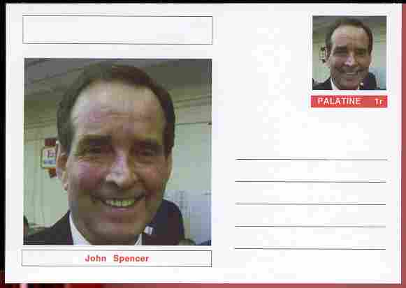 Palatine (Fantasy) Personalities - John Spencer (snooker) postal stationery card unused and fine