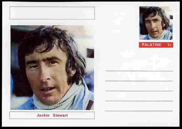 Palatine (Fantasy) Personalities - Jackie Stewart (F1 driver) postal stationery card unused and fine