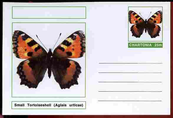 Chartonia (Fantasy) Butterflies - Small Tortoiseshell (Aglais urticae) postal stationery card unused and fine