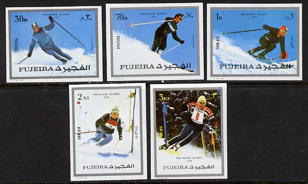 Fujeira 1972 Winter Olympics imperf set of 5 unmounted mint, Mi 1338-42B