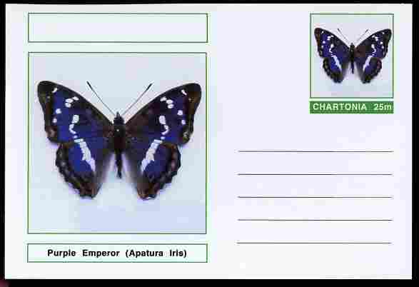 Chartonia (Fantasy) Butterflies - Purple Emperor (Apatura Iris) postal stationery card unused and fine