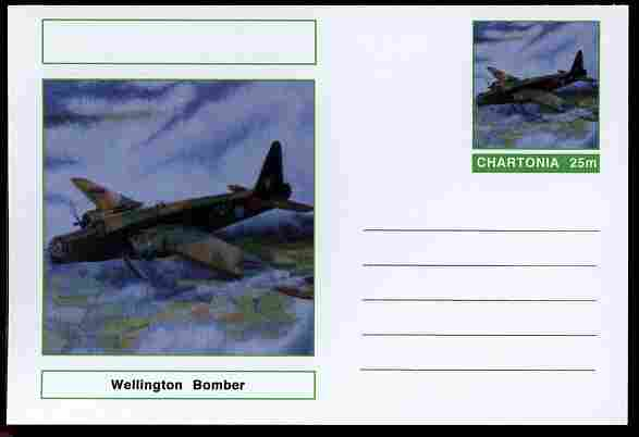 Chartonia (Fantasy) Aircraft - Wellington Bomber postal stationery card unused and fine