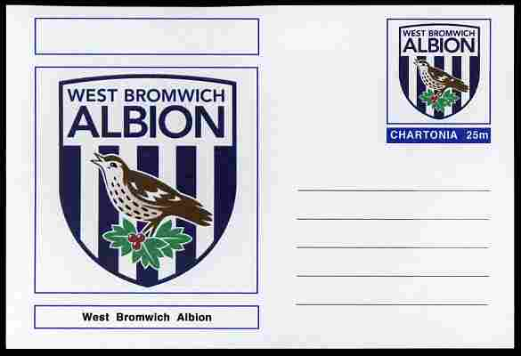 Chartonia (Fantasy) Football Club Badges - West Bromwich Albion postal stationery card unused and fine