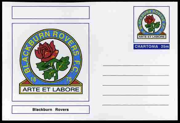 Chartonia (Fantasy) Football Club Badges - Blackburn Rovers postal stationery card unused and fine