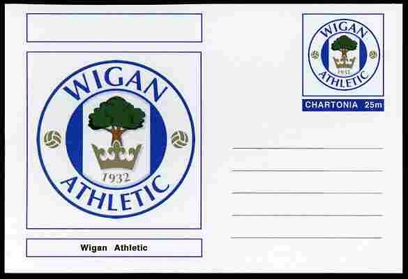 Chartonia (Fantasy) Football Club Badges - Wigan Athletic postal stationery card unused and fine