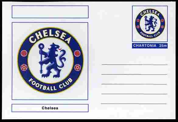 Chartonia (Fantasy) Football Club Badges - Chelsea postal stationery card unused and fine