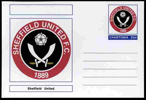 Chartonia (Fantasy) Football Club Badges - Sheffield United postal stationery card unused and fine