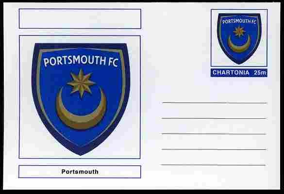 Chartonia (Fantasy) Football Club Badges - Portsmouth postal stationery card unused and fine