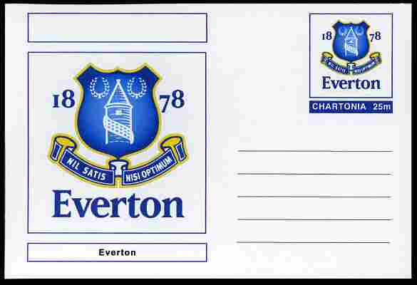 Chartonia (Fantasy) Football Club Badges - Everton postal stationery card unused and fine
