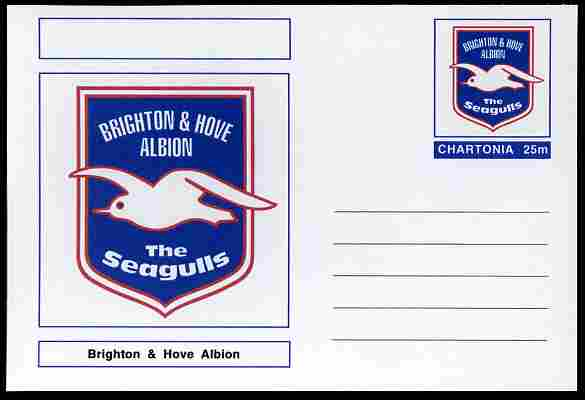 Chartonia (Fantasy) Football Club Badges - Brighton & Hove Albion postal stationery card unused and fine