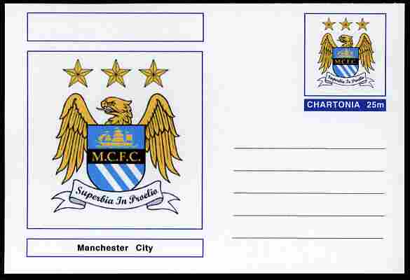 Chartonia (Fantasy) Football Club Badges - Manchester City postal stationery card unused and fine
