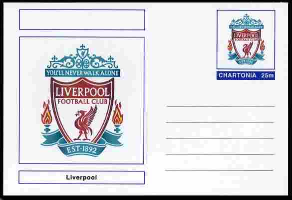 Chartonia (Fantasy) Football Club Badges - Liverpool postal stationery card unused and fine