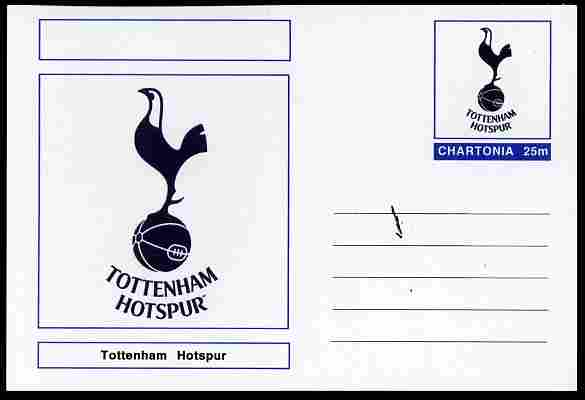 Chartonia (Fantasy) Football Club Badges - Tottenham Hotspur postal stationery card unused and fine