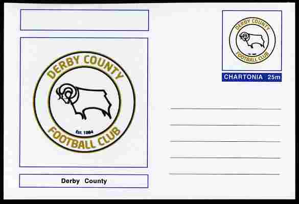 Chartonia (Fantasy) Football Club Badges - Derby County postal stationery card unused and fine