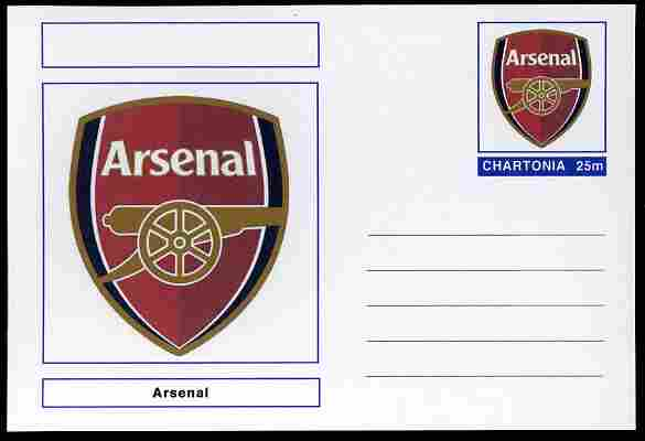 Chartonia (Fantasy) Football Club Badges - Arsenal postal stationery card unused and fine