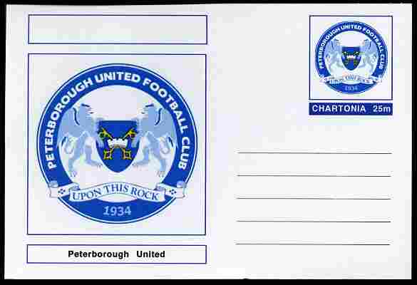 Chartonia (Fantasy) Football Club Badges - Peterborough United postal stationery card unused and fine