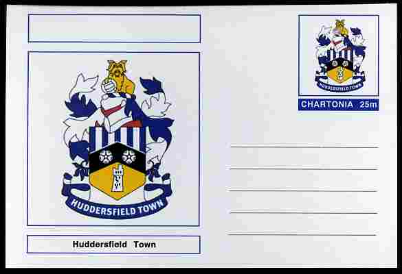 Chartonia (Fantasy) Football Club Badges - Huddersfield Town postal stationery card unused and fine