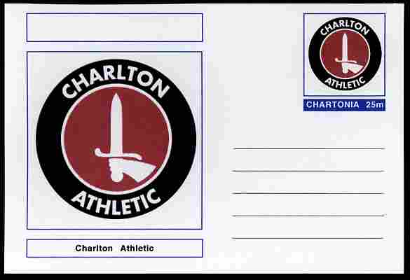 Chartonia (Fantasy) Football Club Badges - Charlton Athletic postal stationery card unused and fine