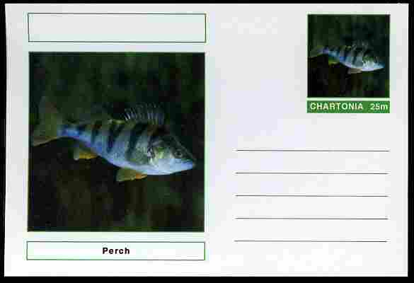 Chartonia (Fantasy) Fish - Perch postal stationery card unused and fine