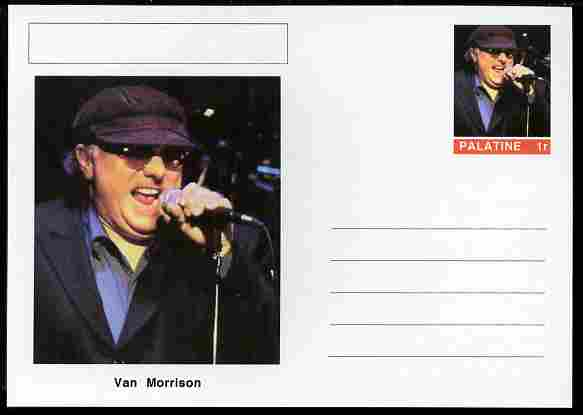 Palatine (Fantasy) Personalities - Van Morrison postal stationery card unused and fine