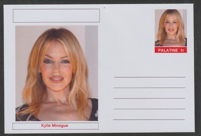 Palatine (Fantasy) Personalities - Kylie Minogue postal stationery card unused and fine