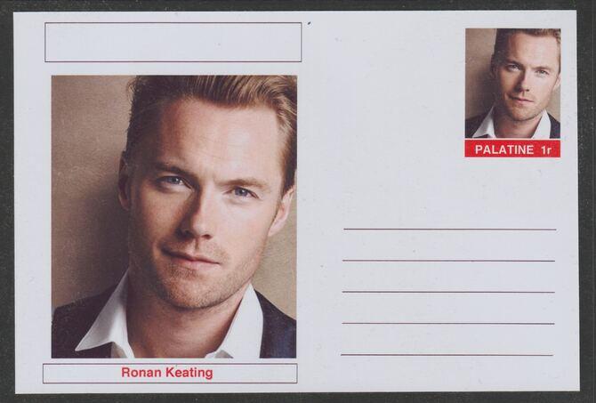 Palatine (Fantasy) Personalities - Ronan Keating postal stationery card unused and fine