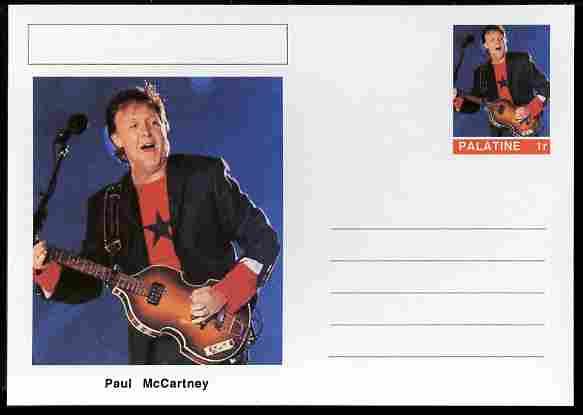 Palatine (Fantasy) Personalities - Paul McCartney postal stationery card unused and fine