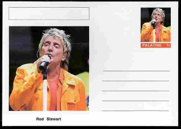 Palatine (Fantasy) Personalities - Rod Stewart postal stationery card unused and fine