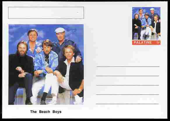 Palatine (Fantasy) Personalities - The Beach Boys postal stationery card unused and fine