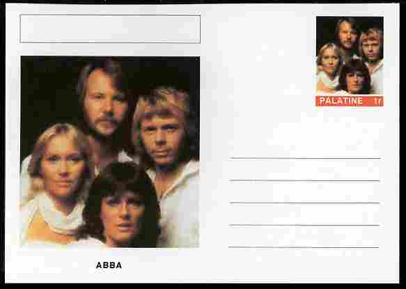 Palatine (Fantasy) Personalities - ABBA postal stationery card unused and fine