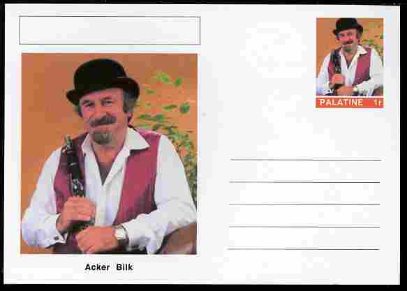 Palatine (Fantasy) Personalities - Acker Bilk postal stationery card unused and fine