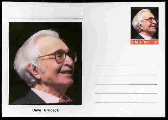Palatine (Fantasy) Personalities - Dave Brubeck postal stationery card unused and fine