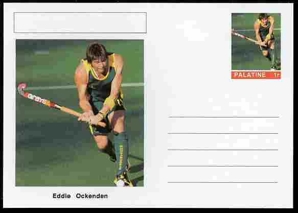 Palatine (Fantasy) Personalities - Eddie Ockenden (field hockey) postal stationery card unused and fine