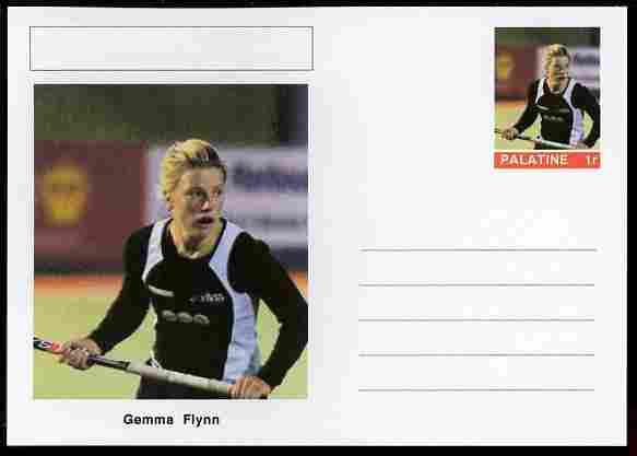 Palatine (Fantasy) Personalities - Gemma Flynn (field hockey) postal stationery card unused and fine