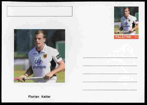 Palatine (Fantasy) Personalities - Florian Keller (field hockey) postal stationery card unused and fine
