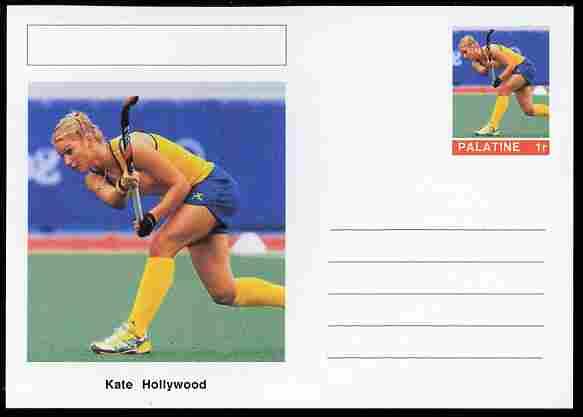 Palatine (Fantasy) Personalities - Kate Hollywood (field hockey) postal stationery card unused and fine