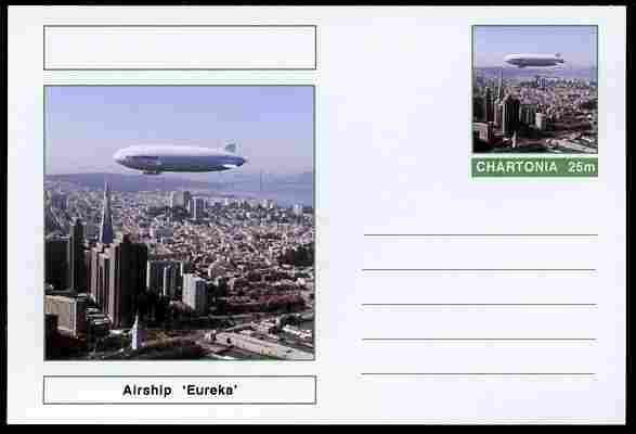 Chartonia (Fantasy) Airships & Balloons - Airship 'Eureka' postal stationery card unused and fine